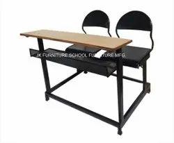 Mild Steel School Desk and Bench