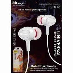 Mobile White HB 86 Hitage Earphone