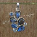 925 Sterling Silver Jewelry Labradorite Gemstone Pendant
