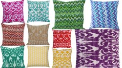 Abstract Print Kantha Cushion Cover