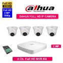 Feecom Dahua Full Hd 2mp Ip Cameras Combo Kit 4ch Hd Nvr 4dome Cameras 2-mp 1-tb Hard Disc Combo P