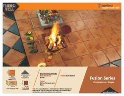 Gloss Fusion Series Cement Square Paving Block, Thickness: 50-60 mm