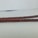 Natural Mozambique Garnet Plain Rondelle Beads Necklace