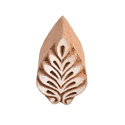 Wooden Leaf Henna Printing Block