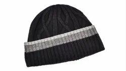 VP Oswal Black Winter Cap