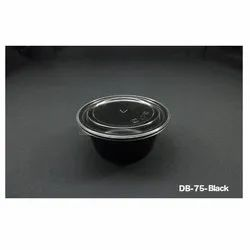 DB-75- Black Plastic Container