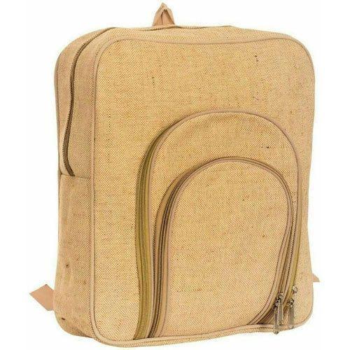 Trendy Jutes Jute Backpack Bag, For School