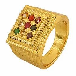 Navratna Chauki Design Ring