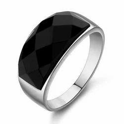Silver Black Onyx Ring