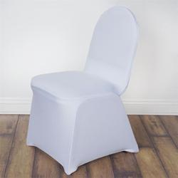 White Hotel Chair Cover