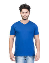 Cotton Men's Solid V-Neck T-Shirt
