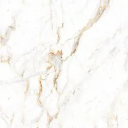 Valencica White & Golden Orientbell Calcutta Gold Marble Porcelain Tile, Thickness: 6 - 8 mm, Size: 600X600 mm