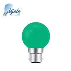 B22 0.5 W Green LED Bulb, Shape: Round