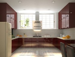 U Shape Modular Kitchen Interior Designing Service