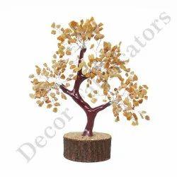 Semi-Precious Stone Golden Quartz Tree For Decoration