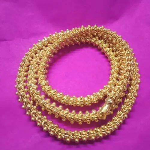 Golden 18 Carat Gold Chain Weight 3g