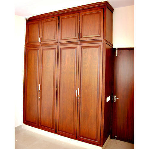 Wood Brown Wooden Bedroom Wardrobe, Rs 1400 /square Feet
