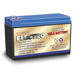 12V 8Ah Sun Voltic Electro VRLA Battery, Warranty: 6+2 Month