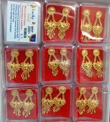 Ladies Micro Gold Polish Earrings