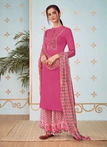 8eb413ff7a7a Pink Kesari Exports Plus Size Readymade Salwar Suits