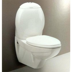 Closed Front White Ceramic Wall Hung Toilet, For Bathroom Fitting