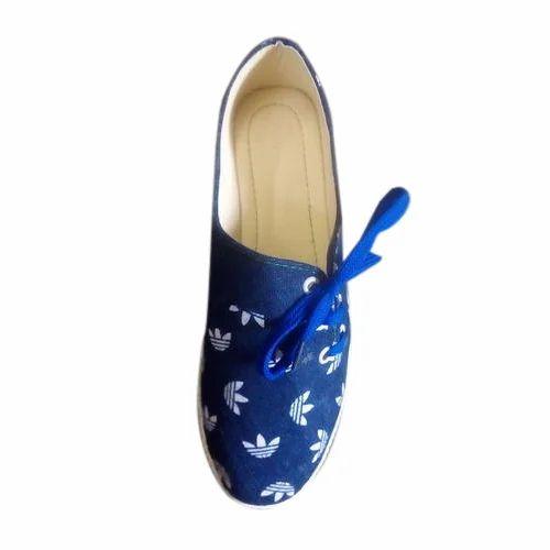 Blue Shravani Ladies Jeans Belly Shoes
