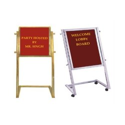 Stainless Steel and Brass Lobby Welcome Board, Size: 24 x 36 inch