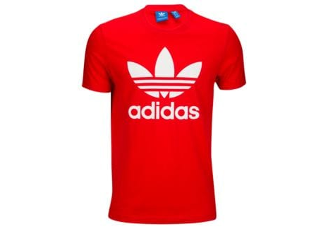8d4af4ef2621 Men Vivid Red/white Adidas Originals Trefoil T Shirt | ID: 16145099812