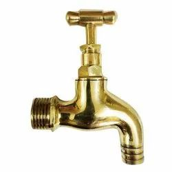 Brush Golden Brass Water Tap, for Bathroom Fitting, Size: 1/2 Inch