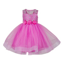 Pink Sleeveless Frocks For Chldrens