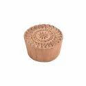 Round Shape Wooden Floral Henna Block Print