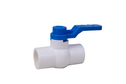 UPVC Ball Valve Long Handle MS Plate