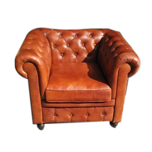 Chesterfield Single Seater Leather Sofa