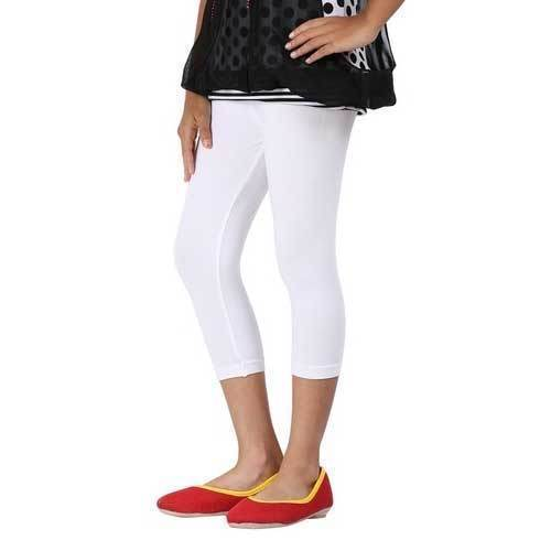 613342d144a Lycra Cotton Ladies White Capri, Rs 168 /piece, Trendy Clothing | ID ...