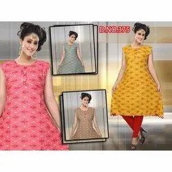Party Wear Ladies Designer Sleeveless Rayon Kurti, Size: M-XXL, Wash Care: Handwash
