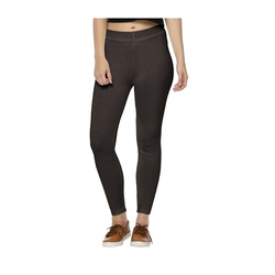 Wild Crust Straight Fit Ladies Black Legging, Size: 28 - 36