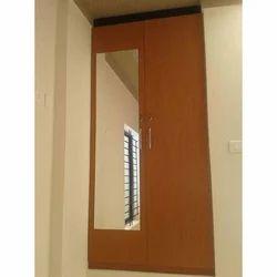 Double Door Wooden Wardrobe