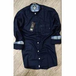 Mark Me Collar Mens Cotton Casual Shirts