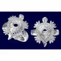Silver Kachua Mens Ring