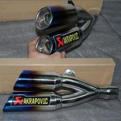Replica Akrapovic Slip Double Exhaust Muffler - Sai Shop