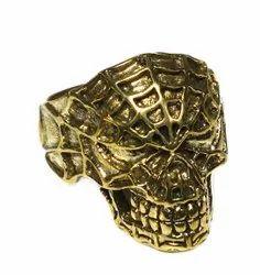 Gemstone brass ring