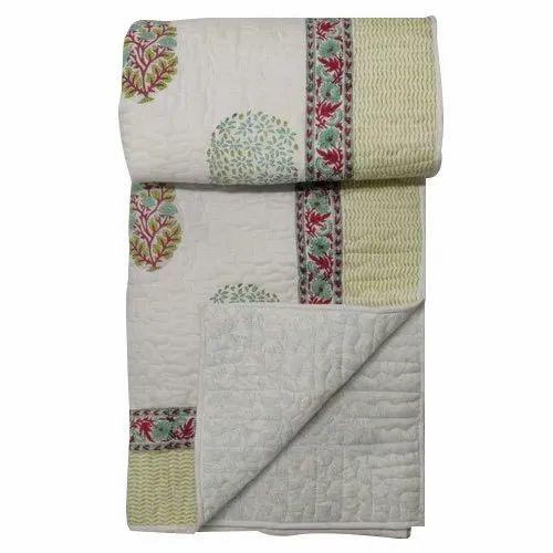 Jaipuri Hand Block Print Quilt Bedcover