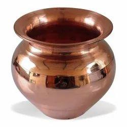 Golden Round Plain Copper Lota, For Hotel,Restaurant, Capacity: 250 -750 Ml