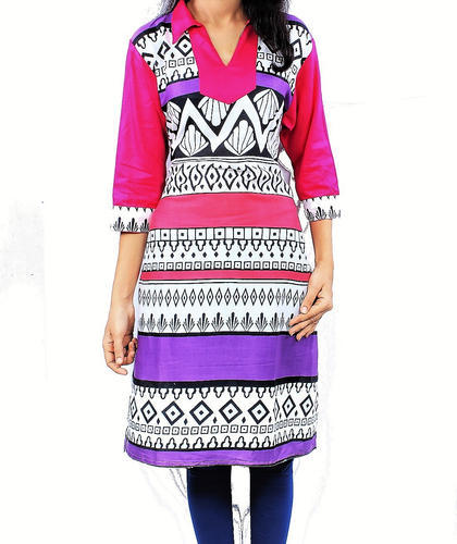 38a3652540 Printed All Sizes Daily Wear Heavy Rayon Kurtis, Rs 320 /piece | ID ...