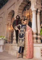 Pakistani Unstitched Shamrock Designer Embroidered Suits