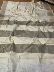Multicolor Tussar Silk Saree, 5.5 M (separate Blouse Piece)