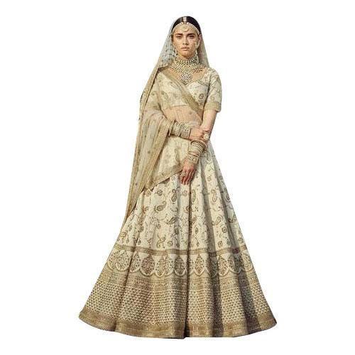 98dbf622e5219 Bridal Heavy Work Embroidered Semi-Stitched Lehenga Choli