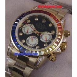 f20218b88bc Stainless Steel Rolex Cosmograph Daytona Rainbow Jewels ETA Flyback ...
