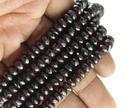 Garnet Roundel Faceted Gemstone Beads