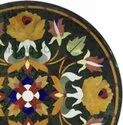 Marble Inlay Table Top, Pietra Dura Marble Table
